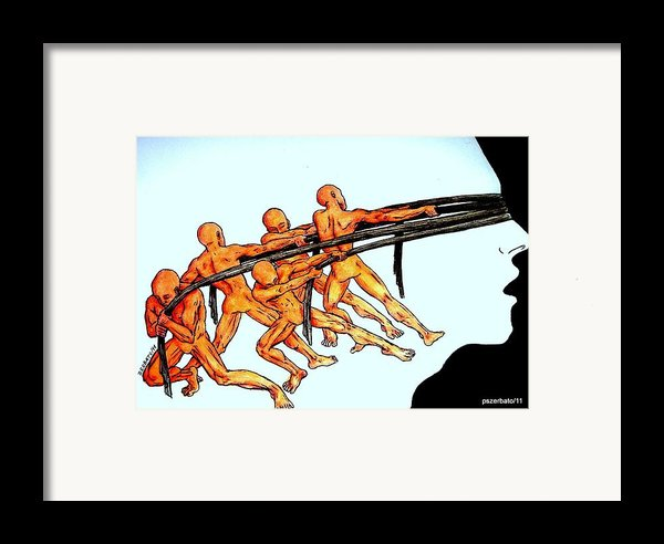 Voluntary Blindness To The Real Truth Framed Print By Paulo Zerbato