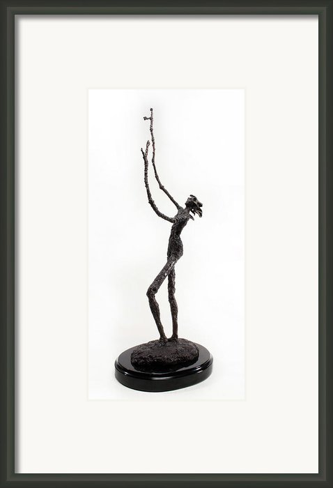 Votary Of The Rain A Sculpture By Adam Long Framed Print By Adam Long