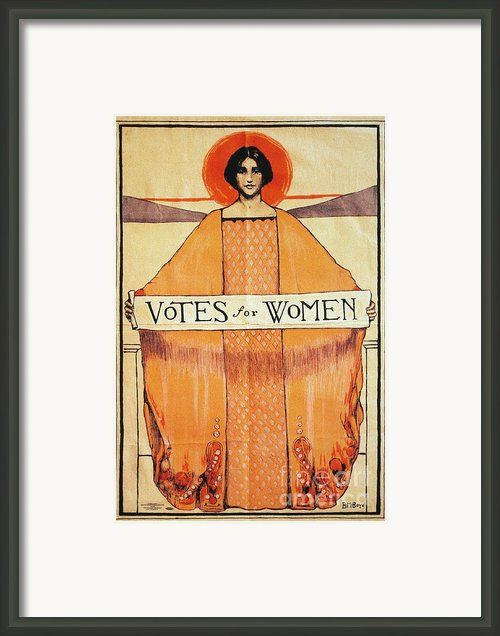 Votes For Women, 1911 Framed Print By Granger