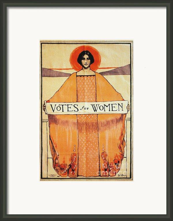 Votes For Women, 1911 Framed Print By Granger