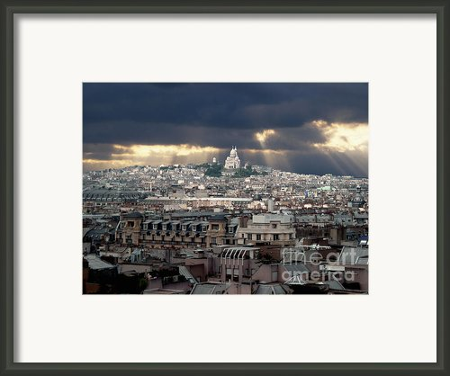 Vue De La Butte Montmartre.roofs Of Paris Framed Print By Bernard Jaubert