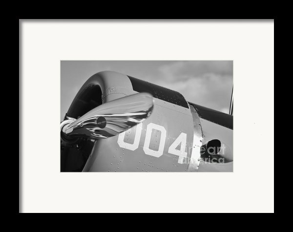 Vultee Bt-13 Valiant In Bw Framed Print By Lynda Dawson-youngclaus