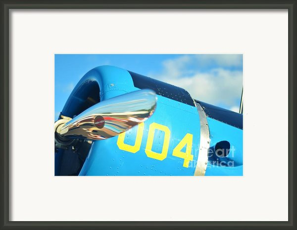 Vultee Bt-13 Valiant Nose Framed Print By Lynda Dawson-youngclaus