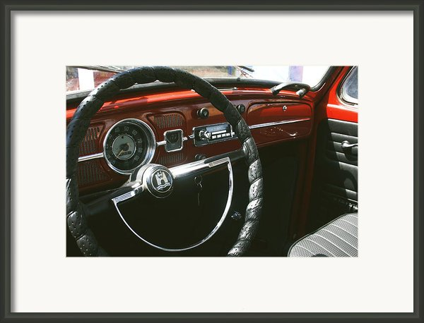 Vw Beetle Interior Framed Print By Georgia Fowler