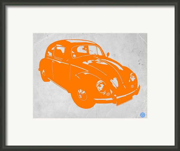 Vw Beetle Orange Framed Print By Irina  March