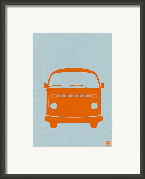 Vw Bus Orange Framed Print By Irina  March