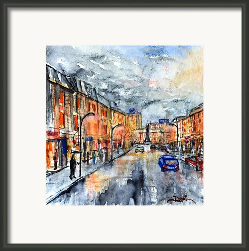 W 39 Rainy Moscow  Framed Print By Dogan Soysal