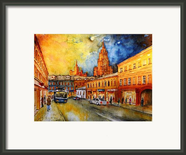 W 47 Moscow Framed Print By Dogan Soysal