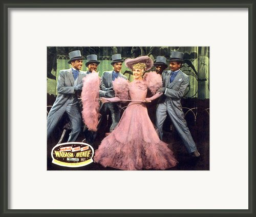 Wabash Avenue, Betty Grable, 1950 Framed Print By Everett