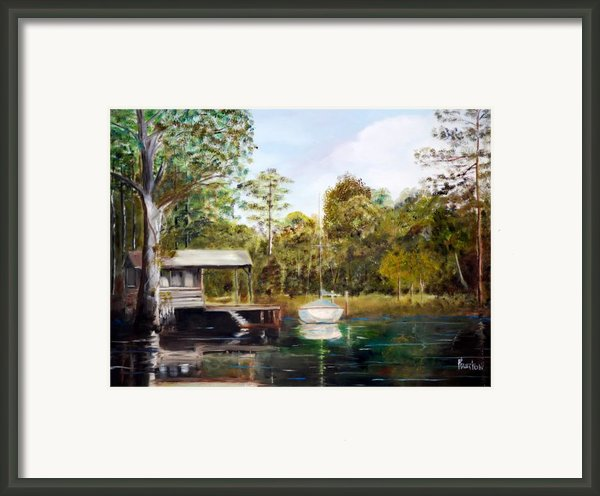 Waccamaw River Sloop Framed Print By Phil Burton