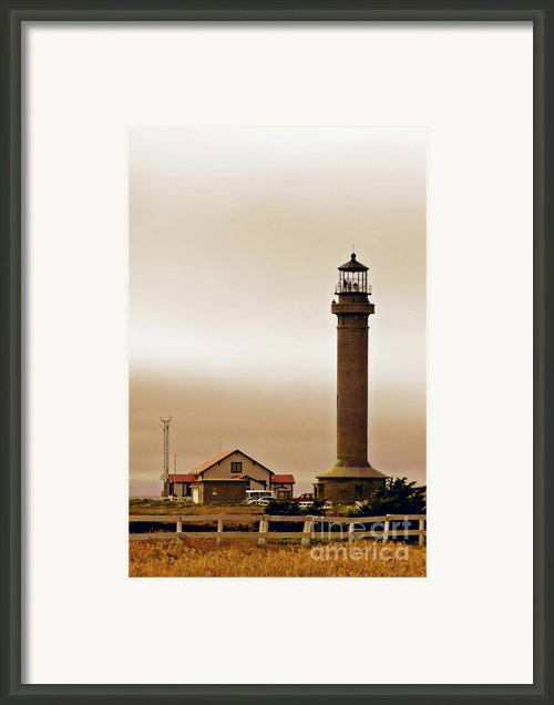 Wacky Weather At Point Arena Lighthouse - California Framed Print By Christine Till