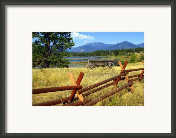 Wagon West Framed Print By Marty Koch