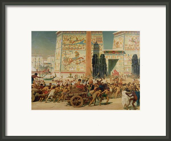 Wagons Detail From Israel In Egypt Framed Print By Sir Edward John Poynter