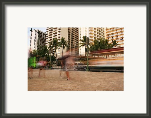 Waikiki Blur Framed Print By Ashlee Meyer