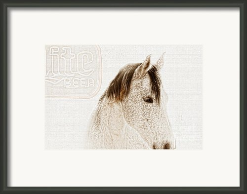 Waiting For A Beer Framed Print By Betty Larue