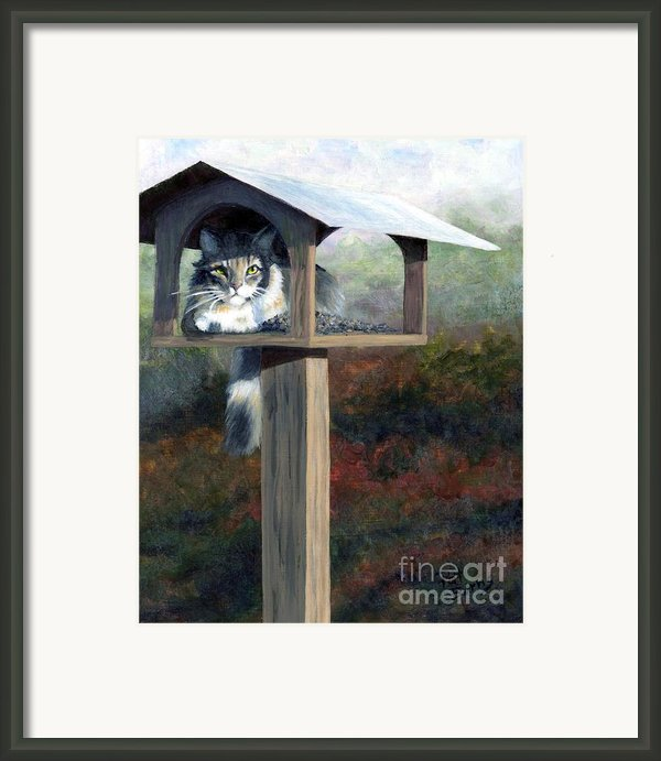 Waiting For Dinner Framed Print By Pat Burns