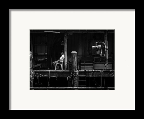 Waiting For The Tide Framed Print By Bob Orsillo