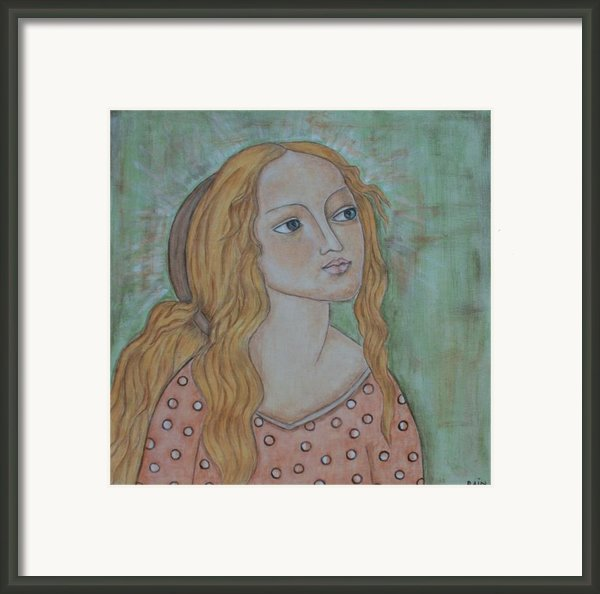 Waiting Framed Print By Rain Ririn