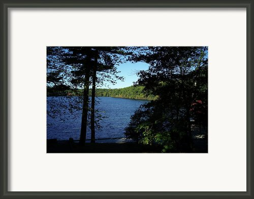 Walden Pond End Of Summer Framed Print By Lawrence Christopher