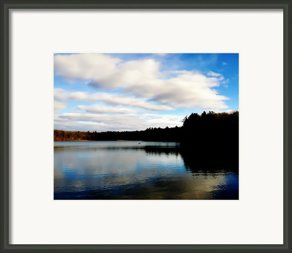 Walden Pond Reverie  Framed Print By Frank Winters