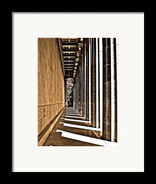 Walhalla Colonnade ... Framed Print By Juergen Weiss