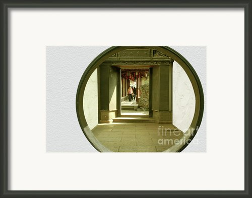 Walk Into The Light - Yuyuan Garden Shanghai China Framed Print By Christine Till