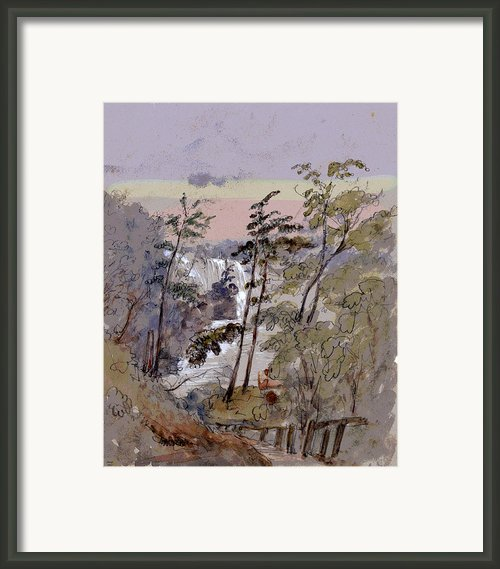 Walk To The Falls Framed Print By Charles Shoup