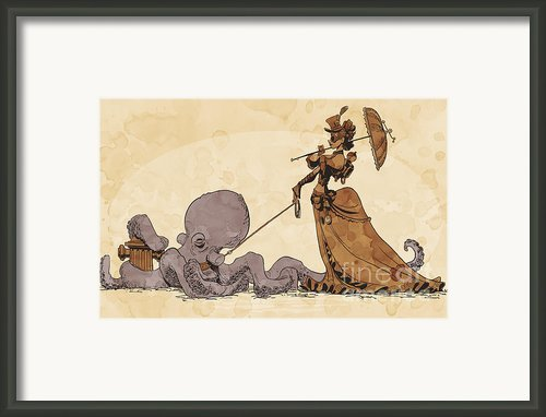 Walkies For Otto Framed Print By Brian Kesinger