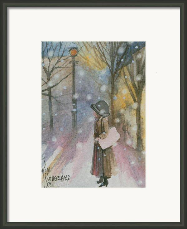 Walking In A Winter Wonderland Framed Print By Kim Whitton