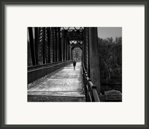 Walking In The Rain Framed Print By Bob Orsillo