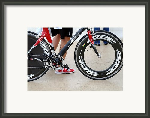 Walking Swimming Biking Running  Framed Print By David Bearden
