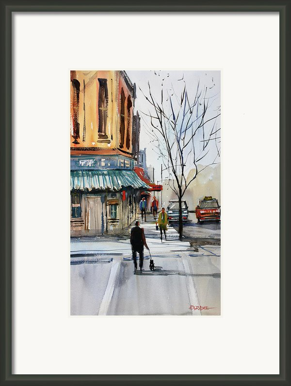 Walking The Dog Framed Print By Ryan Radke