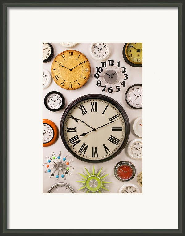 Wall Clocks Framed Print By Garry Gay