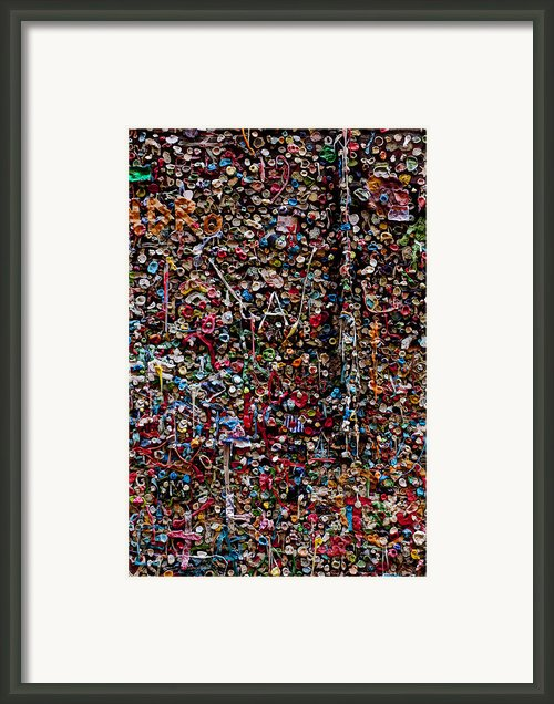Wall Of Gum Framed Print By Garry Gay