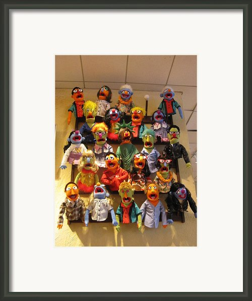 Wall Of Muppets Framed Print By Choi Ling Blakey