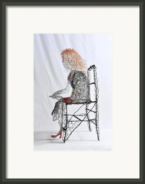 Wallflower In Tight Red Shoes Framed Print By Charlene White