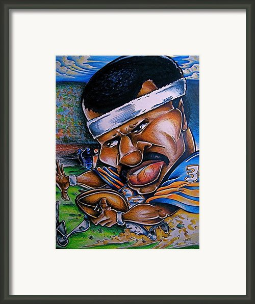 Walter Payton Framed Print By Big Mike Roate