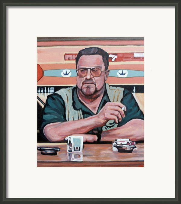 Walter Sobchak Framed Print By Tom Roderick