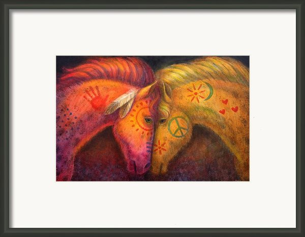 War Horse And Peace Horse Framed Print By Sue Halstenberg