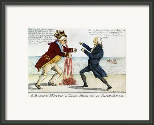 War Of 1812: Cartoon, 1813 Framed Print By Granger