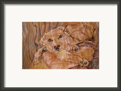 Warm Embrace No.1 Framed Print By Christine Marek-matejka