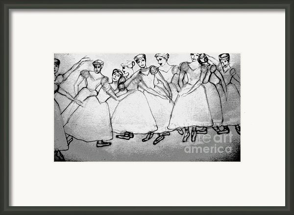 Warming Up - The Ballet Chorus Framed Print By Forartsake Studio
