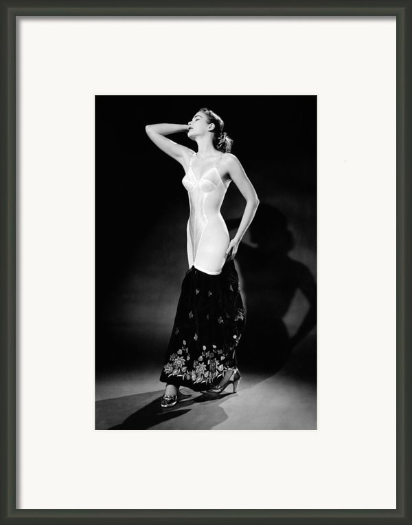 Warner Corset Provided Full Body Framed Print By Everett