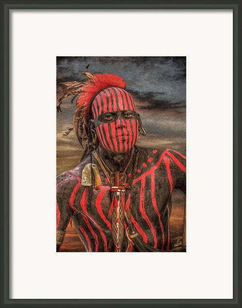 Warpath Shawnee Indian Framed Print By Randy Steele