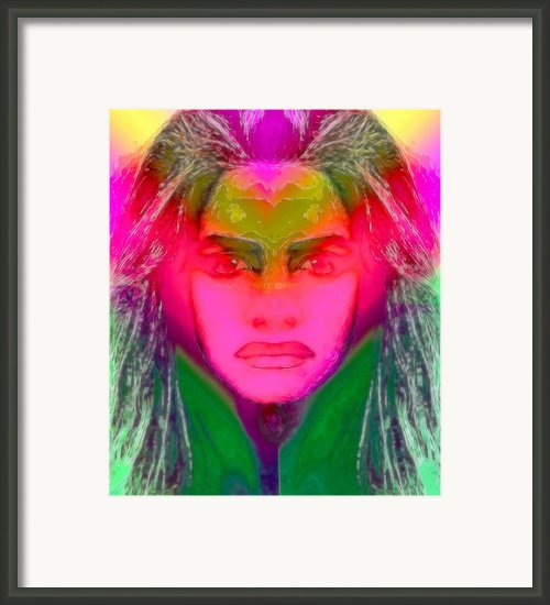 Warrior Goddess Iiii Framed Print By Devalyn Marshall