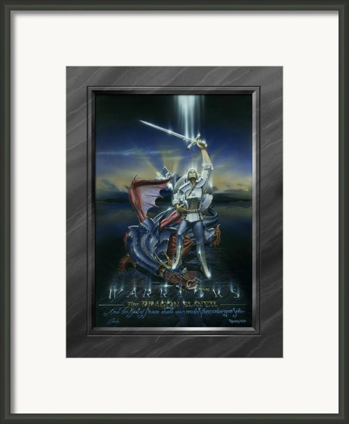 Warriors - Dragon Slayer Framed Print By Cliff Hawley