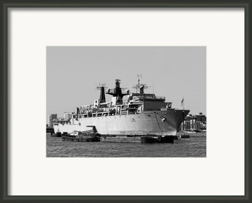 Warship Hms Bulwark Framed Print By Jasna Buncic