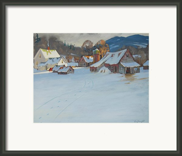 Wash Day Framed Print By Len Stomski
