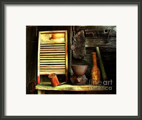 Washboard Still Life Framed Print By Julie Dant