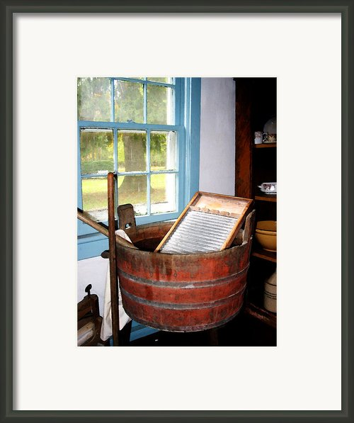Washboard Framed Print By Susan Savad